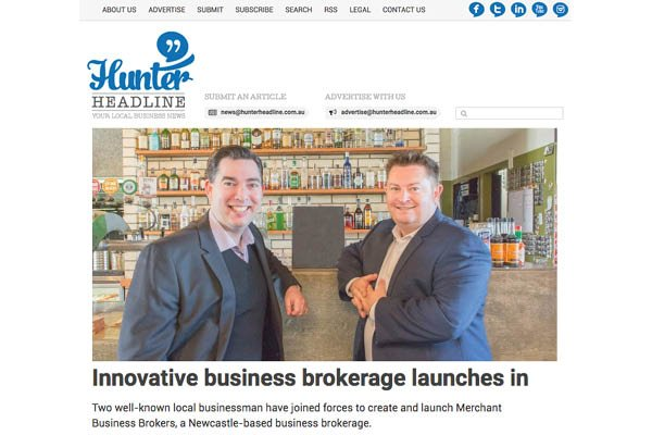 Hunter Headline Merchant Business Brokers