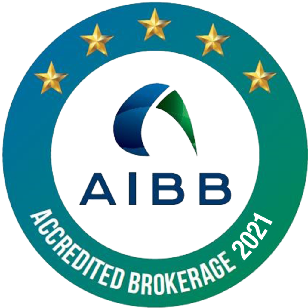 AIBB Brokerage Accreditation Logos 2021 Approved 5 Star
