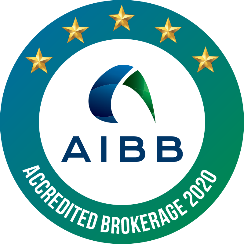 AIBB Brokerage Accreditation Logos 2020 Approved 5 Star